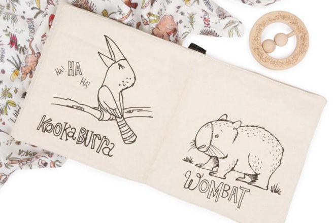 Aussie Animal cloth book by Fawn & Finch