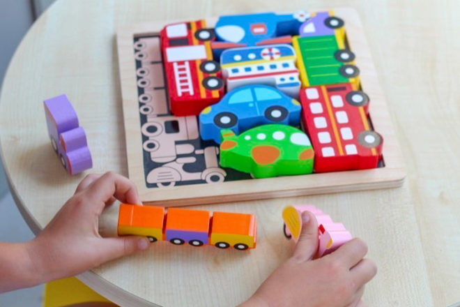 Best Toys for 18 Month Olds: Kiddie Connect Vehicle Puzzle