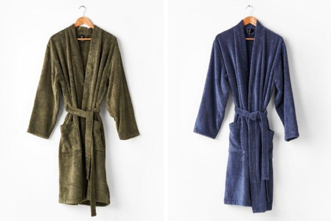 Best gifts for dads: Linen House Nara Bath Robe