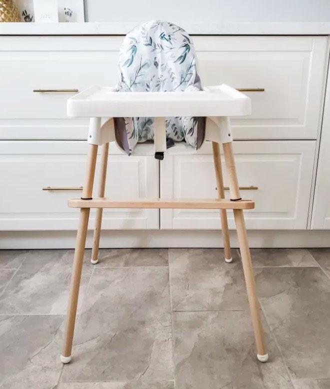 IKEA high chair makeover Chloe K Design