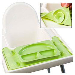 Ikea high chair divided placemat
