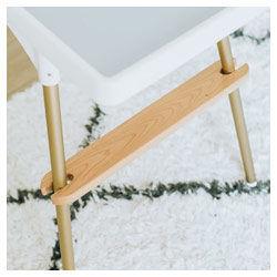 Ikea high chair wooden footrest