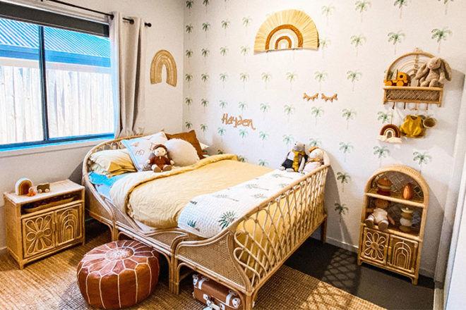 Rattan toddler bed