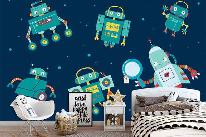 Best Robot Toys and Gifts: AJ Creativity Robot Wallpaper