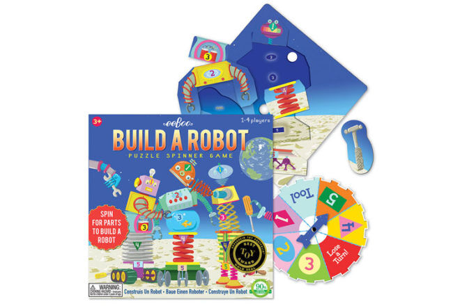 Best Robot Toys and Gifts: Eeboo Build-a-Robot Game