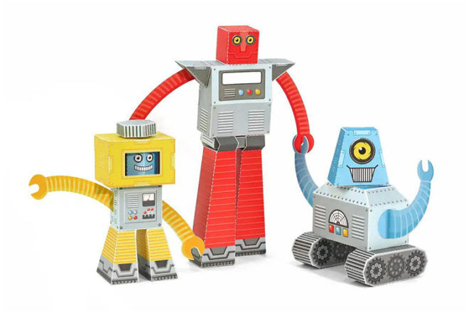 Best Robot Toys and Gifts: Pukaca Paper Robots