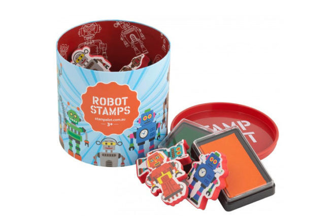 Robot Toys and Gifts: Stamp-a-Lot Robot Stamps