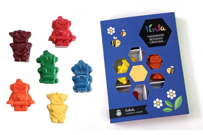 Best Robot Toys and Gifts: Tinta Robot Crayons