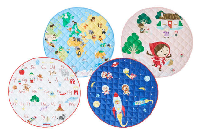 Best Gifts and Toys for 3 Month Olds: Blue Flamingo Play Mats