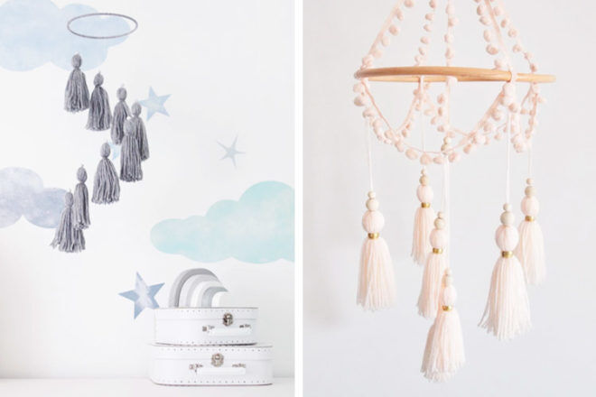 Best Gifts and Toys for 3 Month Olds: Little Cloud Lane Tassle Mobiles