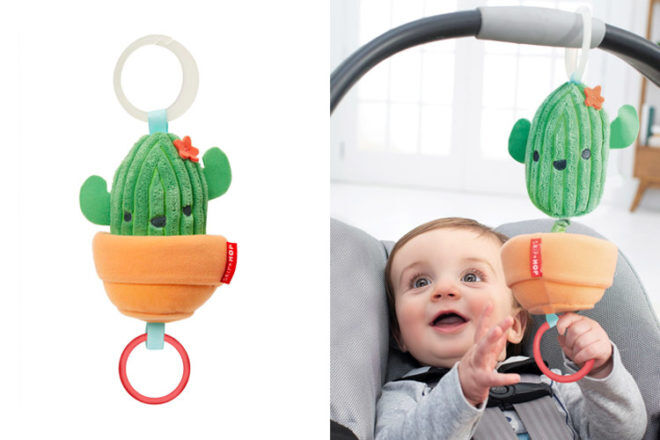 Best Gifts and Toys for 3 Month Olds: Skip Hop Jitter Cactus Stroller Toy