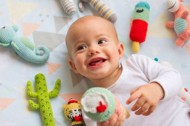 Best Gifts and Toys for 3 Month Olds: Weegoamigo Crochet Rattles