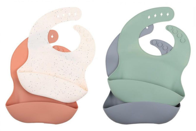 Best Gifts and Toys for 6 Month Olds: Minihaha Silicone Bibs