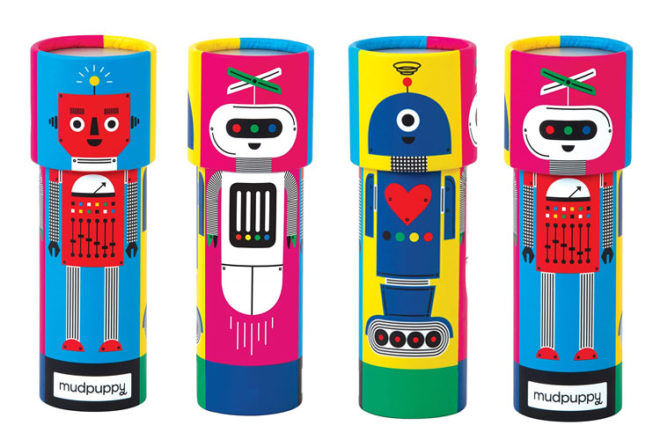 Mudpuppy Robot Kaleidoscope toy