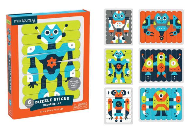 Robot Stick Puzzle MudPuppy