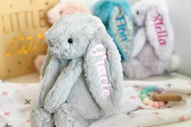Best Gifts and Toys for 6 Month Olds: Personalised Jellycat Bunny