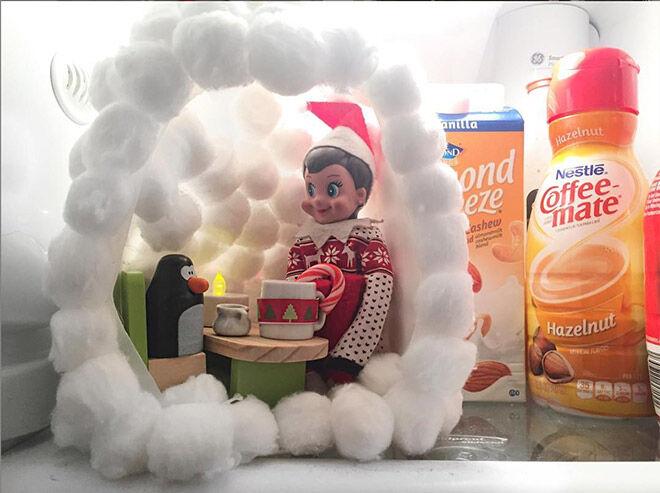 Elf on the Shelf igloo idea