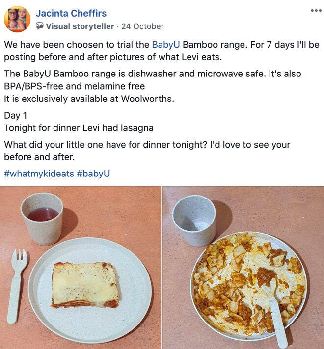 What my kid eats Jacinta Cheffirs babyU