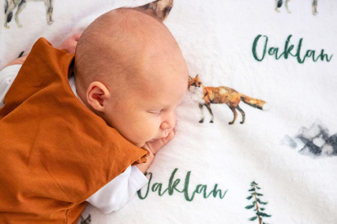 Best Personalised Blankets: Pitter Pattern