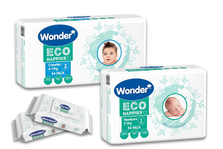 Wonder Eco Nappies and Wipes