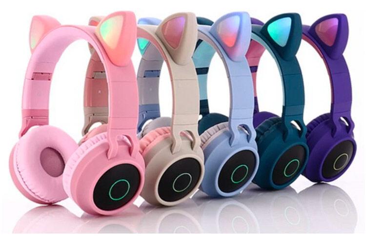 Cat ears kids headphones