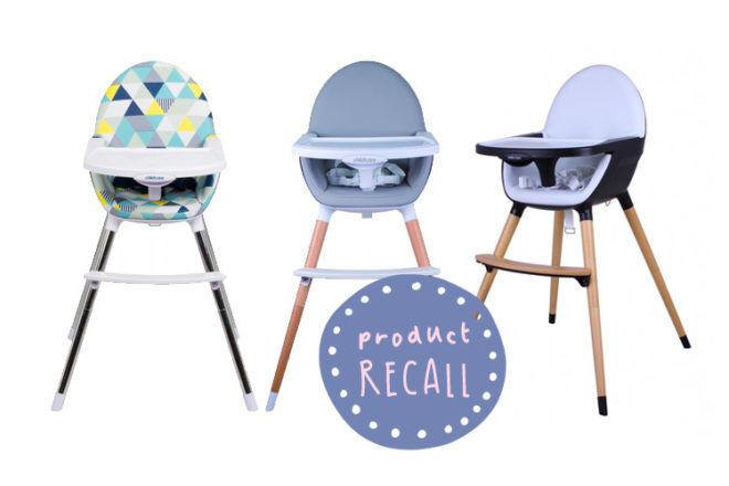 CNP Brands high chair recall