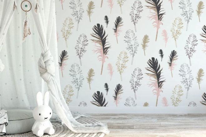 Amba Florette Feathered Friends Nursery Wallpaper