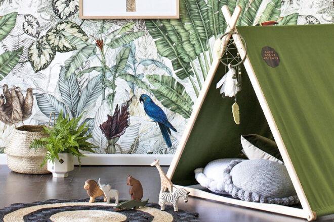 Jimmy Cricket Jungle Nursery Wallpaper