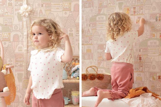 Majvillan Doll House Wallpaper Sunny Pink