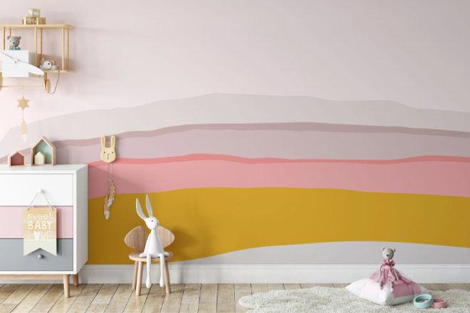 Olive et Oriel Morning Vibes Nursery Wallpaper