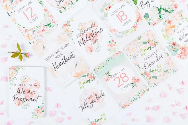 Best Pregnancy milestone Cards: Belle & Grace Boutique