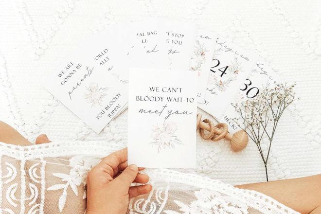 Mae She Reign Pregnancy Milestone Cards