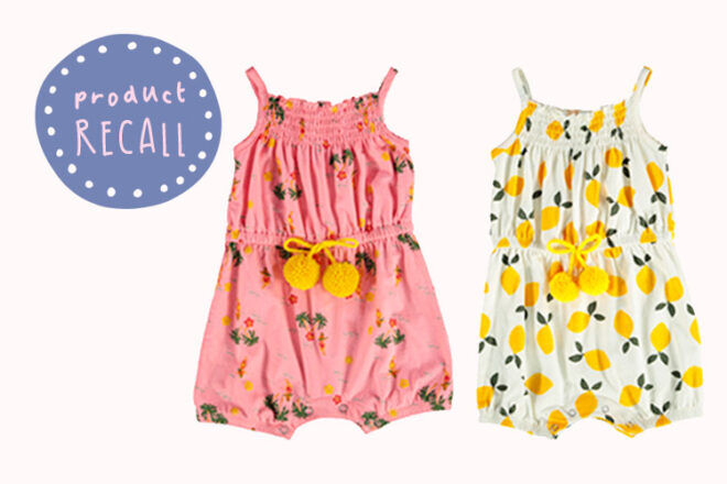 Product Recall Best&Less Baby Playsuits