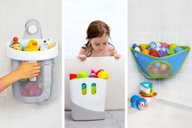 Best was to store bath toys