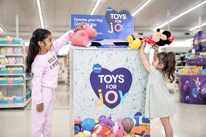 Toys for Joy BIGW recycling toys trial