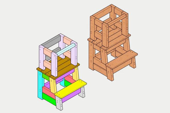 BillerCraft Learning Tower building plan