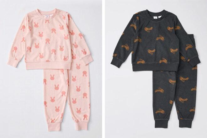 Target Organic Towelling Bunny Pyjama Sets