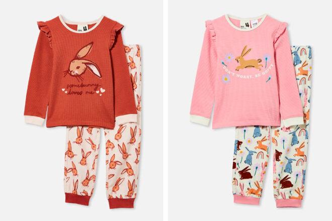 Cotton On Frill Shoulder Easter PJs for Kids