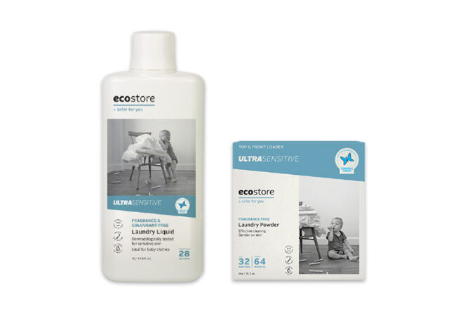 Ecostore Ultra-Sensitive Laundry Detergent for washing baby clothes