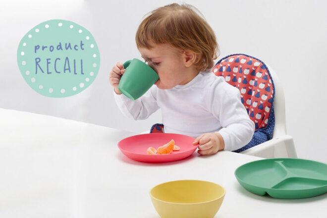 IKEA plates bowls mugs recall