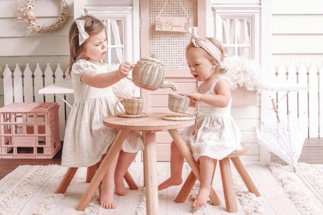 Juni Moon Rattan Tea Set