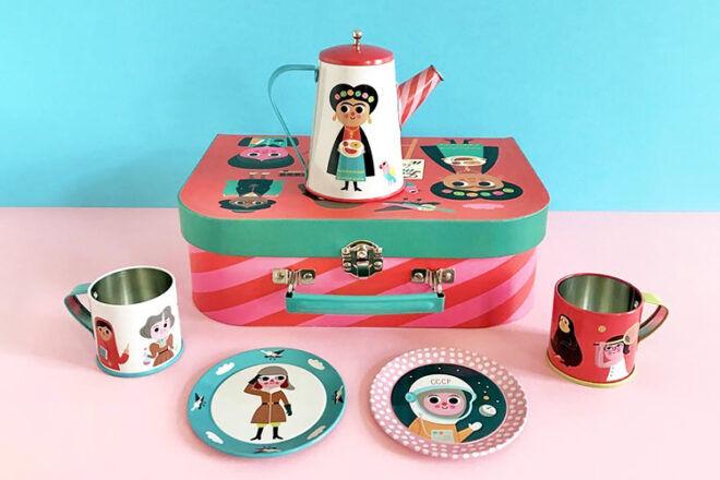 OMM Designs Feminist Tin Tea Set
