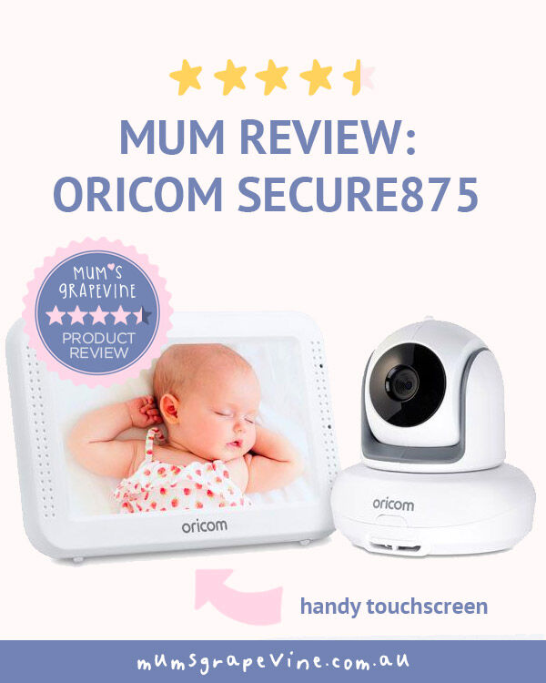 Oricom Secure 875 touchscreen video baby monitor