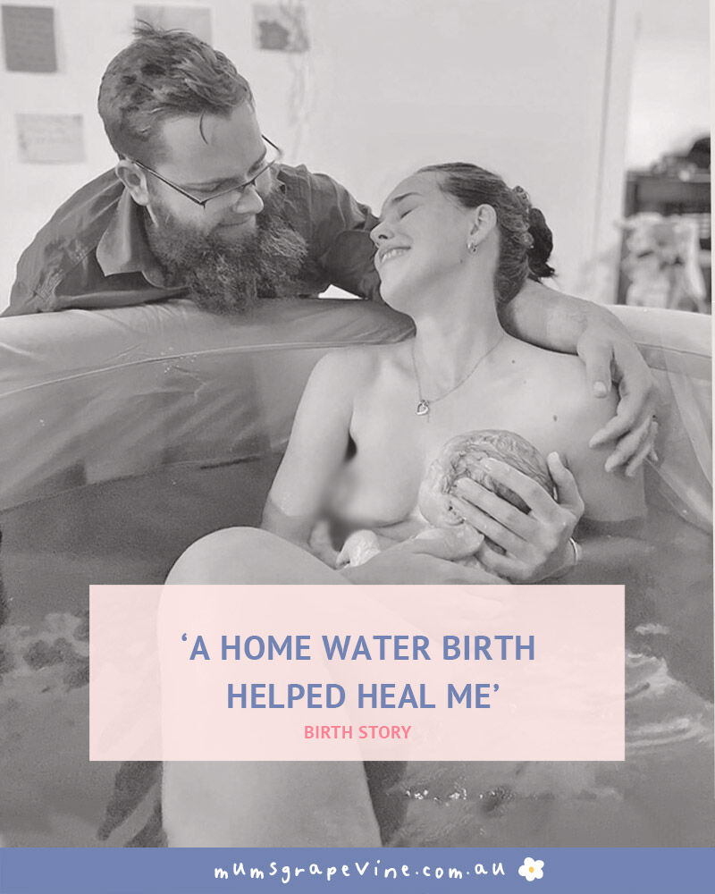 Helen Brookes home water birth story