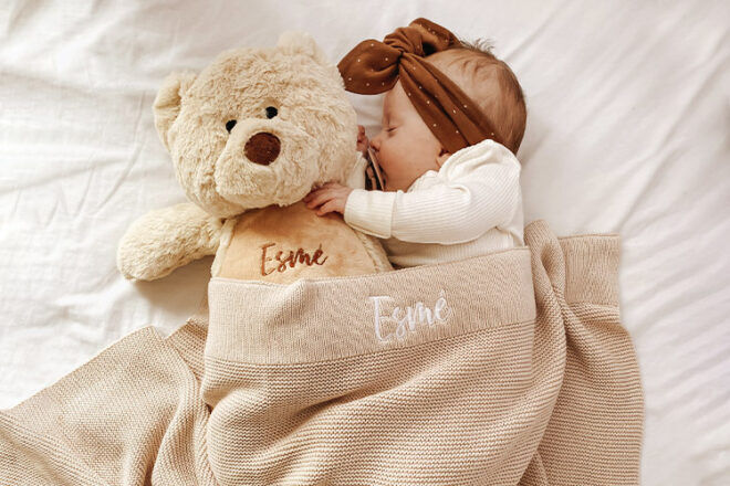Little Poppet Store Personalised Blankets