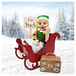 My Magical Moments girl Elf on sleigh