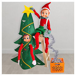 My Magical Moments Elves decorating tree