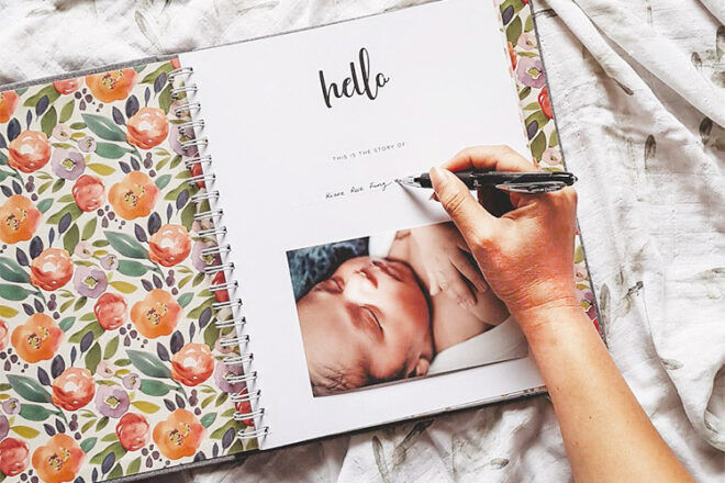 Peachly Baby Record Book