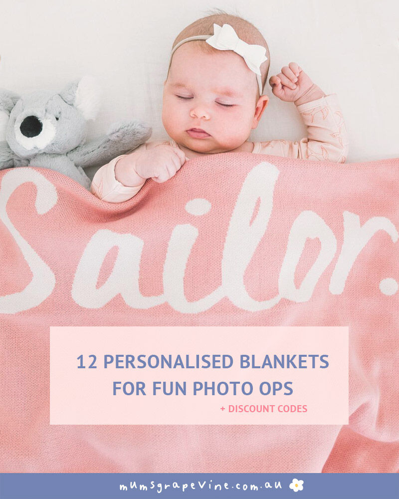12 personalised baby blankets for snug bubs | Mum's Grapevine