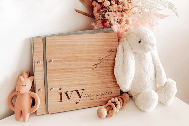 The Little Things Personalised Baby Record Book